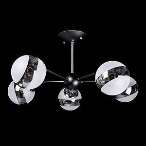 Люстра лофт на 5 лампочек P5-N3592/5/BK+CH