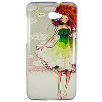Чехол с рисунком Printed Plastic для Lenovo S930 Девушка в платье
