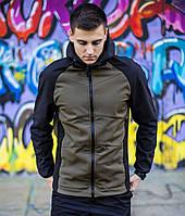 Мужская демисезонная куртка Pobedov «Stal'» хаки-черная