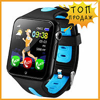 Детские умные смарт часы телефон с GPS Baby Smart Watch V5K Original Black-Blue