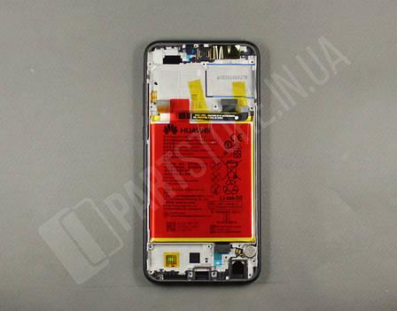 Дисплей Huawei Honor 9 lite Black (02351SNN) сервисный оригинал в сборе с рамкой, акб и датчиками, фото 2