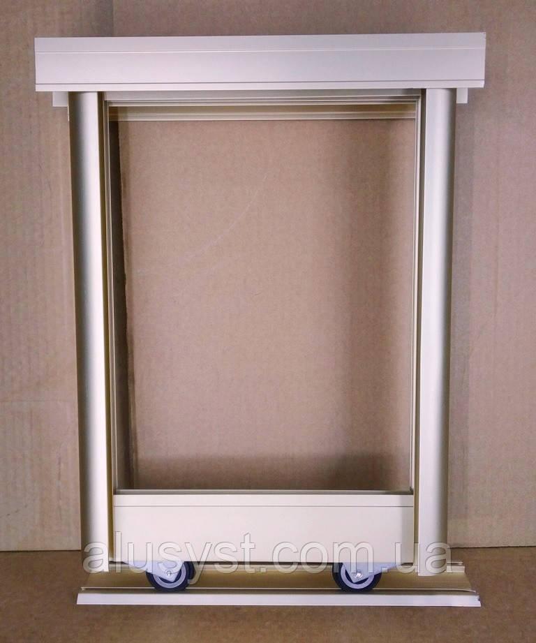 3 - двери. Раздвижная система для шкафа купе на три двери. Золото