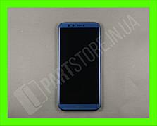 Дисплей Huawei Honor 9 lite Blue (02351SNQ) сервисный оригинал в сборе с рамкой, акб и датчиками