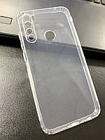 Чехол для Xiaomi Redmi Note 8 силиконовый прозрачный (с заглушками)