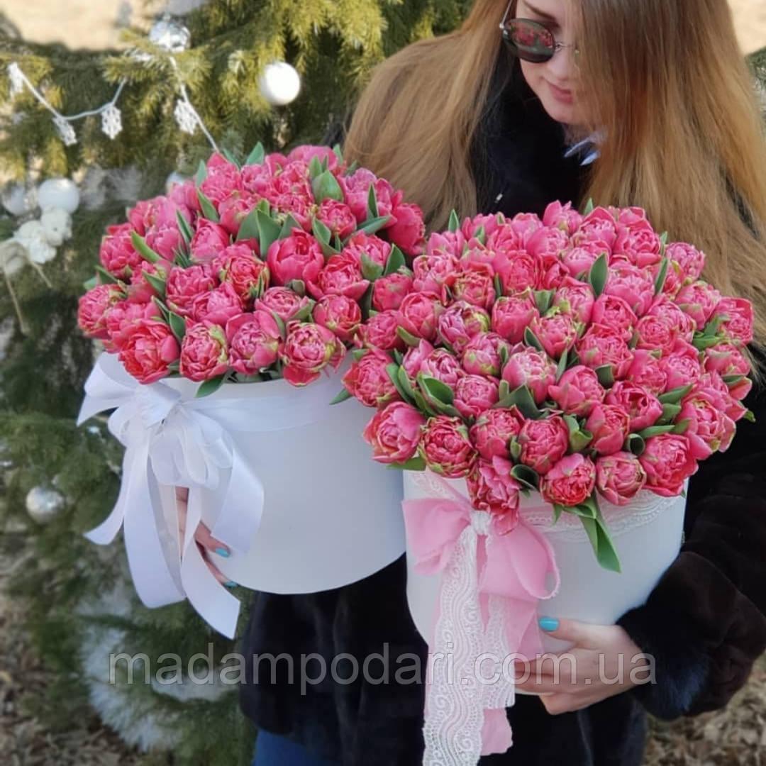 Букет тюльпанов в коробке