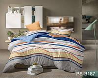 Евро комплект постельного белья Полисатин PS-B187