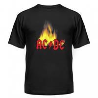 Футболка AC DC с огнем