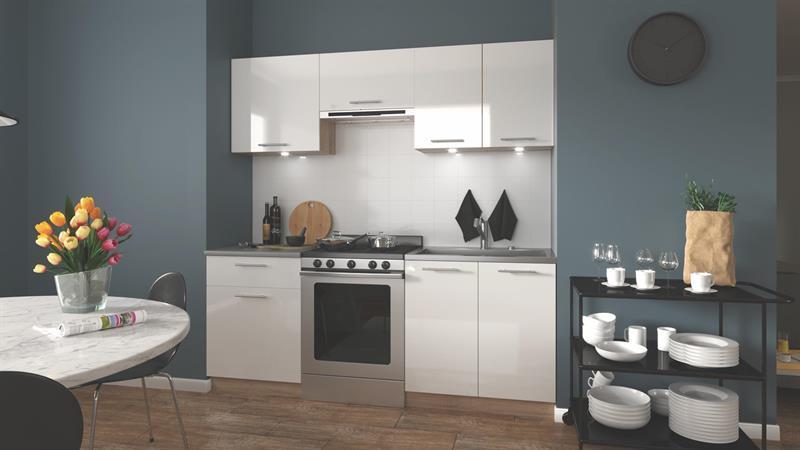 Кухонный гарнитур MARIJA 200 белый Halmar