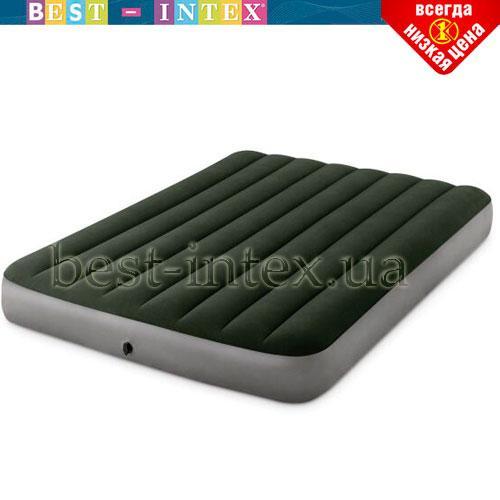 Полутороспальный надувной матрас Intex 64778 (137 x 191 x 25 см) Prestige Downy Airbed + Внешний электронасос