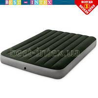 Полутороспальный надувной матрас Intex 64778 (137 x 191 x 25 см) Prestige Downy Airbed + Внешний электронасос, фото 1