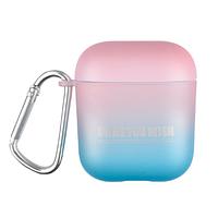 Противоударный чехол - Airpods Apple. Пластик. Градиент (розово-голубой)