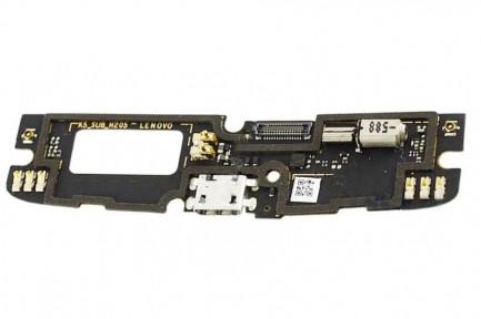 Нижняя плата Lenovo A7010 Vibe X3 Lite, Vibe K4 Note, K5 (K51c78) с микрофоном, виброзвонком и разьемом