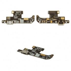 Нижняя плата Asus ZenFone Live (ZB501KL) X00FD с разъемом зарядки и микрофоном