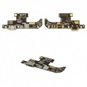 Нижняя плата Asus ZenFone Live (ZB501KL) X00FD с разъемом зарядки и микрофоном, фото 2