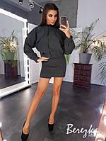 Кашемировый комплект из куртки и юбки, фото 1
