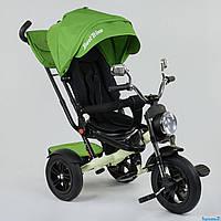 Трехколесный велосипед -мотоцикл Best Trike надувные колеса складной руль фара зеркала пульт 4490, фото 1