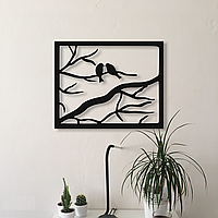 Декоративное металлическое панно Птицы в рамке ., фото 1