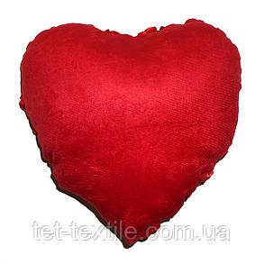 "Декоративная подушка ""Сердечко"" красная, фото 2"