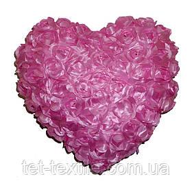 "Декоративная подушка ""Сердечко"" нежно розовая"