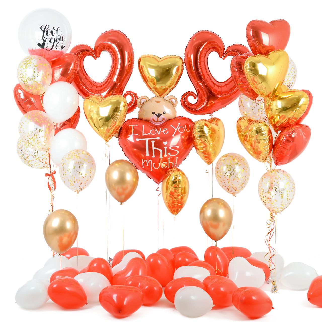 Оформление романтической фотозоны из воздушных шаров на 14 февраля
