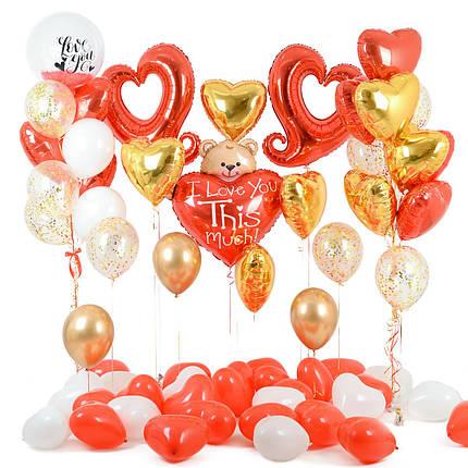 Оформление романтической фотозоны из воздушных шаров на 14 февраля, фото 2