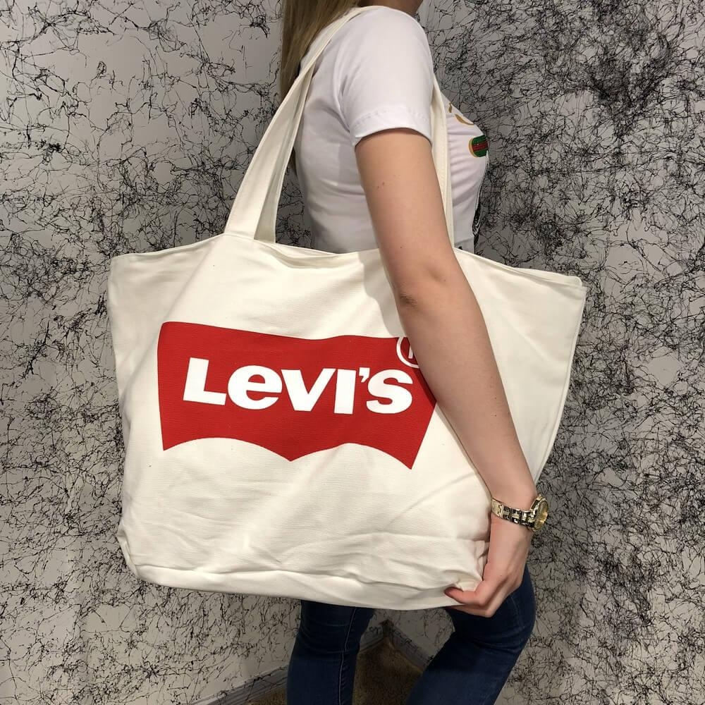 Beach Bag Levis Cotton White