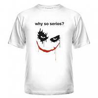 Молодёжная белая футболка летняя с рисунком  Joker