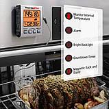 Термометр для м'яса ThermoPro TP-16S (-10°C до 300°C) з таймером, магнітом і підсвічуванням, фото 3
