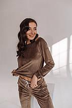 """Велюровый женский спортивный костюм """"Lela"""" с карманами (2 цвета), фото 3"""
