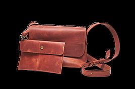 Кожаная сумка кросс-боди Cross женская янтарная
