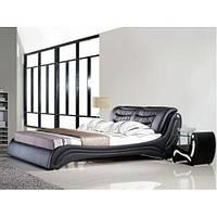 Кожаная двуспальная кровать B207 бело-черная Sonata Mobel,Германия