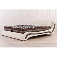 Кожаная двуспальная кровать B207 молочно-венге Sonata Mobel,Германия