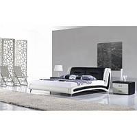 Кожаная двуспальная кровать B208 бело-черная Sonata Mobel, Германия