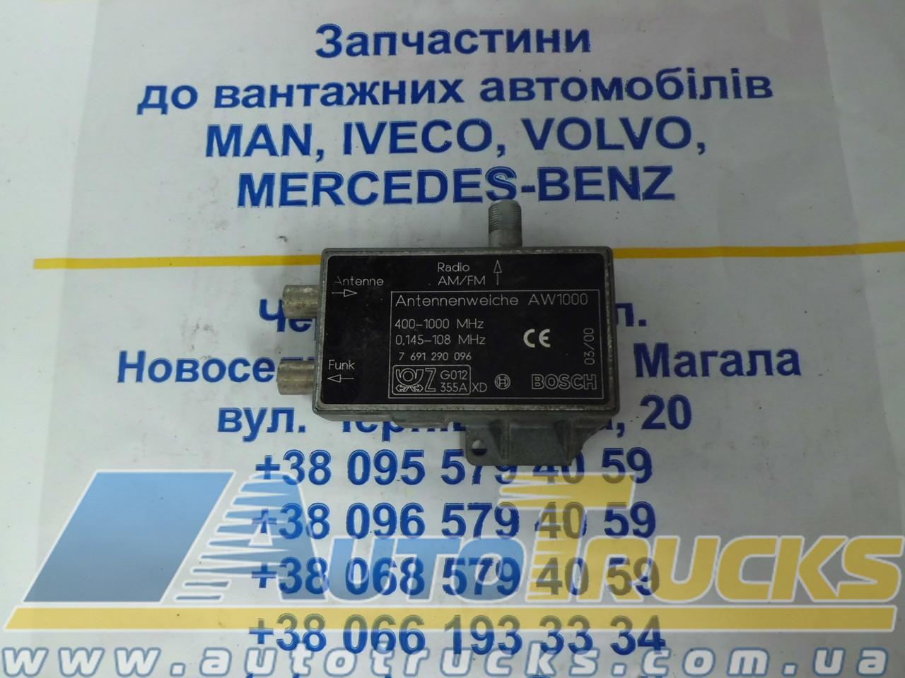 Блок управления ANTENNENWEICHE AW 1000 Bosch Б/у для VOLVO (7691290096)