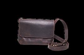 Шкіряна сумка крос-боді Cross жіноча коричнева