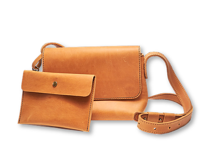 Кожаная сумка кросс-боди Cross женская песочная, фото 2