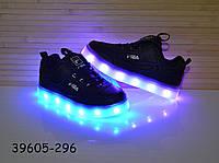 Кроссовки со светящей LED подошвой с USB кабелем размеры 27 - 32