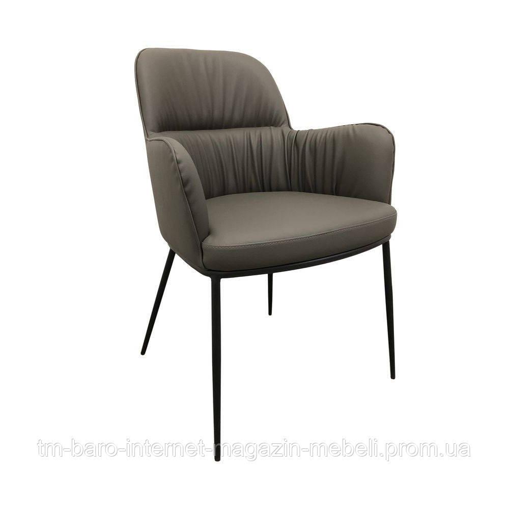 Кресло Sheldon (Шелдон) экокожа, серый графит, Concepto