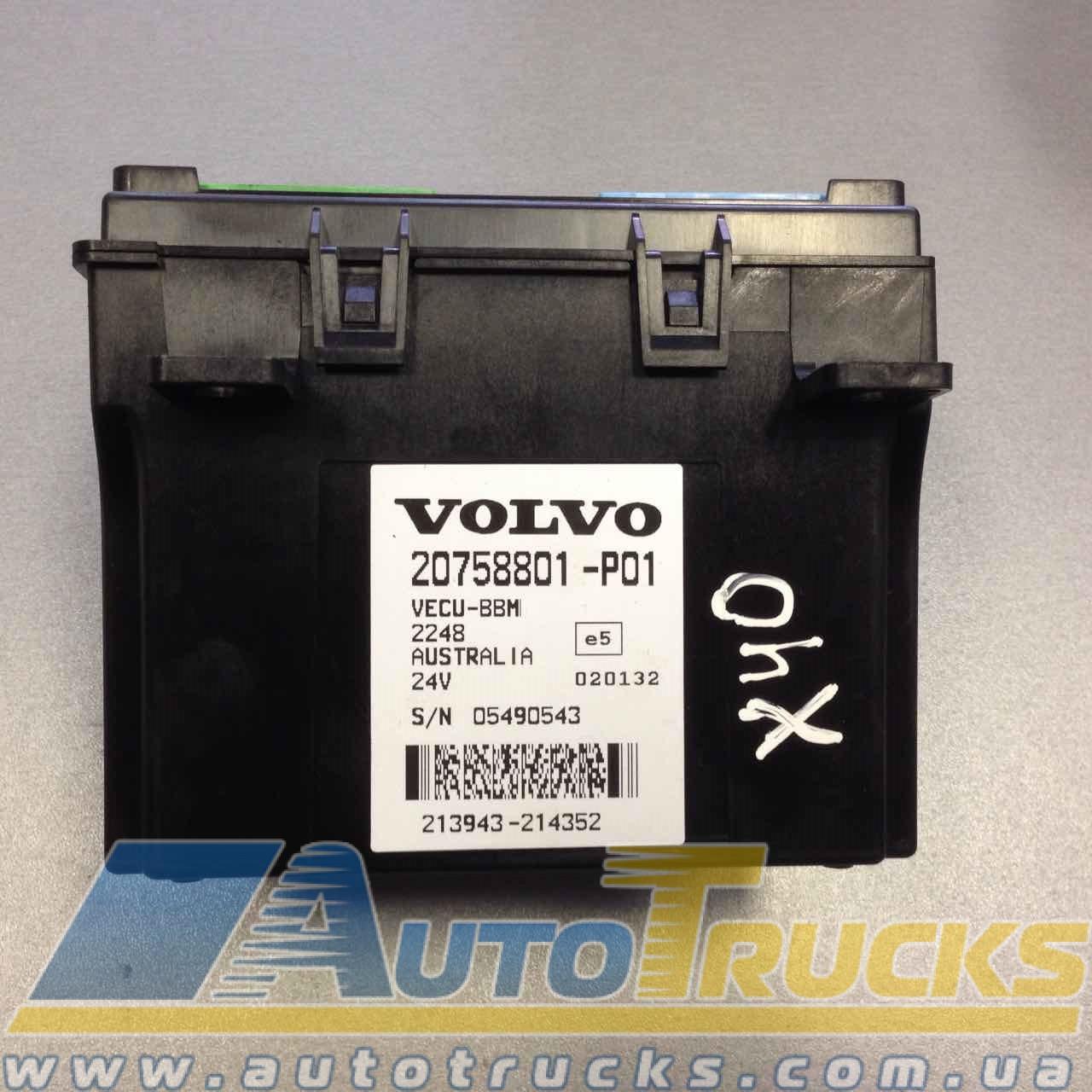 Блок управления VECU-BBM 24V Б/у для VOLVO (20758798-P01; 20758801-P01; 21067821-P01; 20758798; 20758801; 21067821)