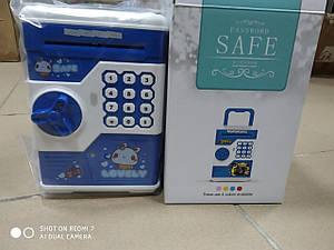 """Електронна скарбничка """"Сейф банкомат"""" з кодовим замком і купюропріємником"""