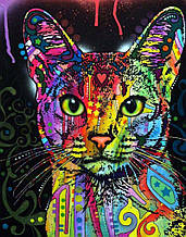 """Алмазная живопись 40*50см. """"Кошка"""" Z7039 в подарочной коробке, алмазная мозайка"""