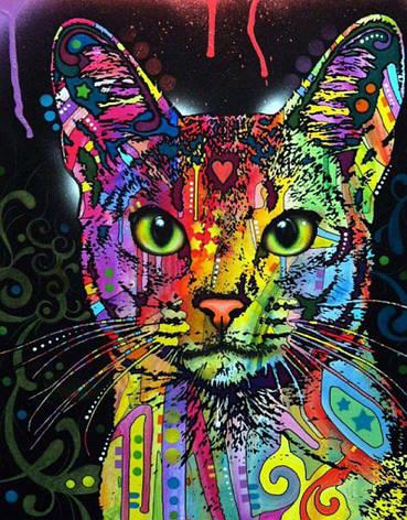 """Алмазная живопись 40*50см. """"Кошка"""" Z7039 в подарочной коробке, алмазная мозайка, фото 2"""