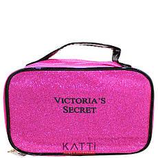 48119 косметичка кейс с ручкой KATTi Glitter Victoris'a Secret цветная с блестками 21х13х9см, фото 3