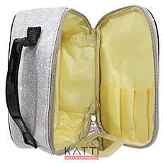 48119 косметичка кейс с ручкой KATTi Glitter Victoris'a Secret цветная с блестками 21х13х9см, фото 2