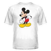 Футболка чоловіча з малюнком Міки, друк на футболках на замовлення