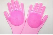 Силиконовые многофункциональные перчатки-щетки ( Перчатки для мытья и чистки посуды), фото 3