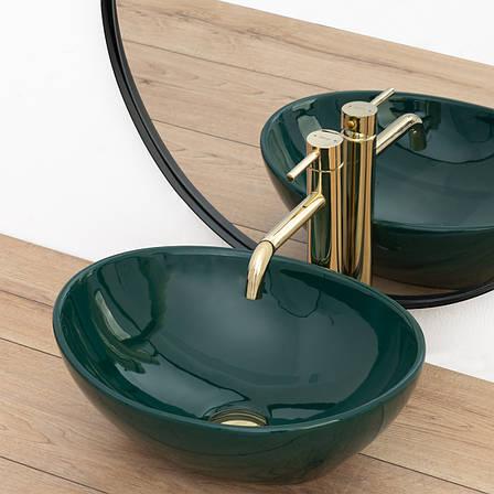 Умывальник (раковина) REA SOFIA GREEN накладной зеленый, фото 2