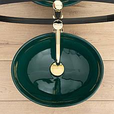 Умывальник (раковина) REA SOFIA GREEN накладной зеленый, фото 3