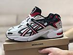 Чоловічі кросівки Asics (бежево-білі з червоним), фото 2