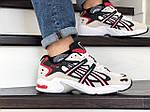 Чоловічі кросівки Asics (бежево-білі з червоним), фото 3